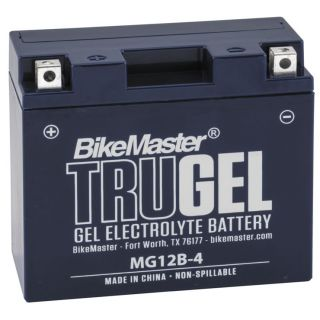 BikeMaster TruGel Batteries for Street MG12B-4 Battery, 150mm L x 69mm W x 130mm H