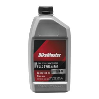 BikeMaster Full-Synthetic Oil Synthetic, 20W50, 1 qt., for Case Order 12