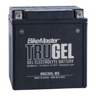 BikeMaster TruGel Batteries MG30L-BS Battery, 168mm L x 127mm W x 177mm H