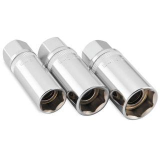 BikeMaster Magnetic Spark Plug Socket Set Fits 16, 18 and 21mm