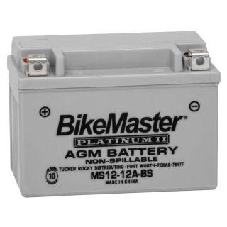 BikeMaster Platinum Batteries MS12-12A-BS Battery, 12V Battery, 150mm L x 87mm W x 106mm H