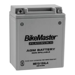 BikeMaster Platinum Batteries for Street MS12-12AL-A Battery, 12V Battery, 134mm L x 80mm W x 161mm H