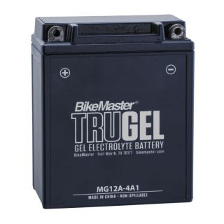 BikeMaster TruGel Batteries for ATV MG12A-4A1 Battery, 134mm L x 80mm W x 161mm H