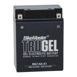 BikeMaster TruGel Batteries for ATV MG14A-A1 Battery, 135mm L x 89mm W x 170mm H