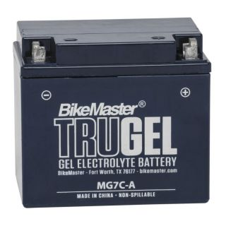 BikeMaster TruGel Batteries for Street MG7C-A Battery, 130mm L x 90mm W x 114mm H
