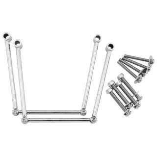 BikeMaster Universal Saddlebag Guards Small, Chrome