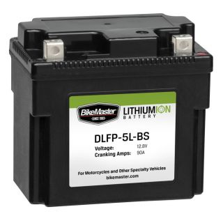 BikeMaster Lithium-Ion Batteries for Street DLFP5L-BS Battery, 114mm L x 70mm W x 105mm H
