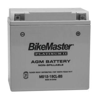 BikeMaster Platinum Batteries MS12-19CL-BS Battery, 12V Battery, 175mm L x 100mm W x 175mm H