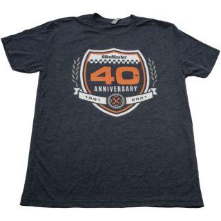 BikeMaster 40th Anniversary Emblem Tee Blue, S