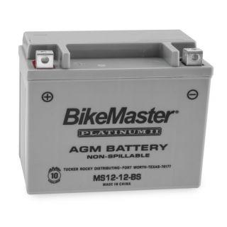 BikeMaster Platinum Batteries MS12-12-BS Battery, 12V Battery, 151mm L x 87mm W x 131mm H