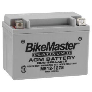 BikeMaster Platinum Batteries MS12-12ZS Battery, 12V Battery, 151mm L x 87mm W x 110mm H