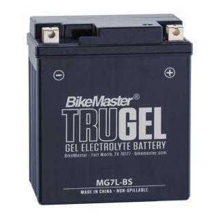 BikeMaster TruGel Batteries MG7L-BS Battery, 114mm L x 71mm W x 130mm H