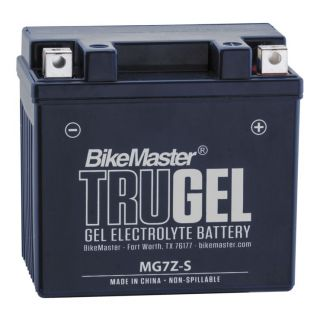 BikeMaster TruGel Batteries MG7Z-S Battery, 114mm L x 71mm W x 106mm H