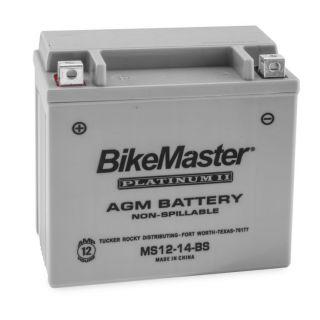 BikeMaster Platinum Batteries MS12-14-BS Battery, 12V Battery, 151mm L x 87mm W x 146mm H