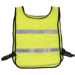 BikeMaster Reflector Safety Vest Fluorescent Lime, One Size