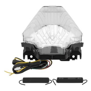 BikeMaster Integrated and Sequential Taillights Integrated Clear
