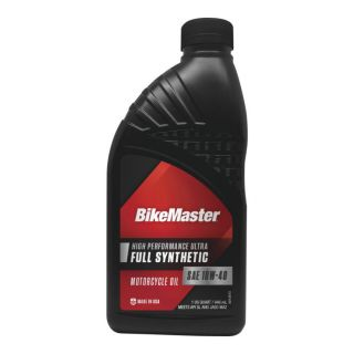 BikeMaster Full-Synthetic Oil Synthetic, 10W40, 1 qt., for Case Order 12