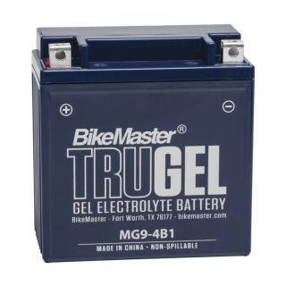BikeMaster TruGel Batteries MG9-4B1 Battery, 135mm L x 75mm W x 139mm H