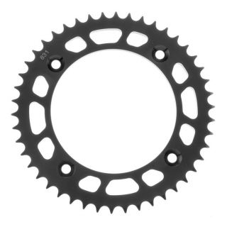 BikeMaster Rear Steel Sprockets for Offroad Rear 428, 46T, Black