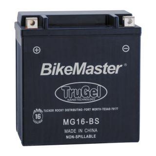 BikeMaster TruGel Batteries for ATV MG16-BS Battery, 151mm L x 87mm W x 161mm H