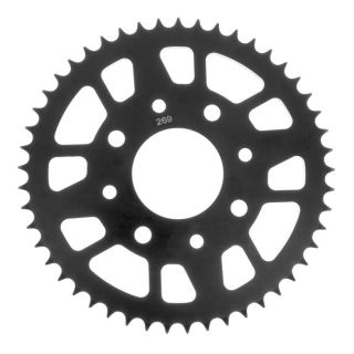 BikeMaster Rear Steel Sprockets for Street Rear 428, 49T, Black