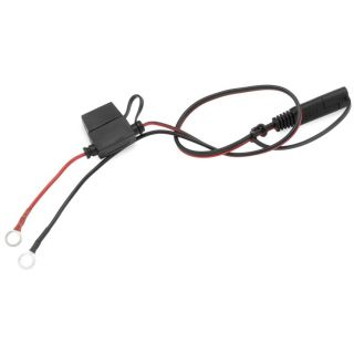 BikeMaster Battery Charger Leads Quick Connect Harness, Ring Terminal