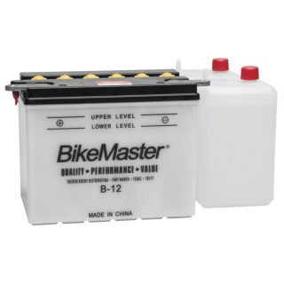 """BikeMaster Performance Conventional Batteries for V-Twin B-12 Battery, 8-1/8"""" L x 5-1/4"""" W x 6-1/2"""" H"""