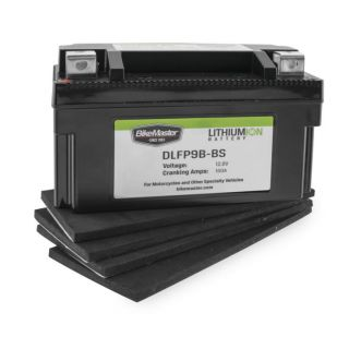 BikeMaster Lithium-Ion Batteries for Street DLFP9B-BS Battery, 148mm L x 65mm W x 92mm H