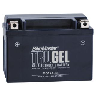 BikeMaster TruGel Batteries for Street MG12A-BS Battery, 150mm L x 87mm W x 106mm H