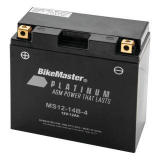 BikeMaster Platinum Batteries for Street MS12-14B-4 Battery, 12V Battery, 150mm L x 69mm W x 145mm H