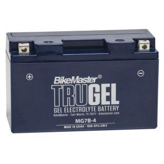 BikeMaster TruGel Batteries MG7B-4 Battery, 150mm L x 65mm W x 92mm H