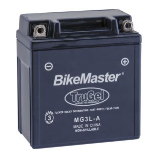 BikeMaster TruGel Batteries for Offroad MG3L-A Battery, 98mm L x 56mm W x 109mm H