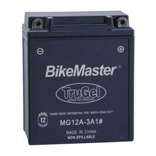 BikeMaster TruGel Batteries for Street MG12A-3A1 Battery, 134mm L x 80mm W x 161mm H