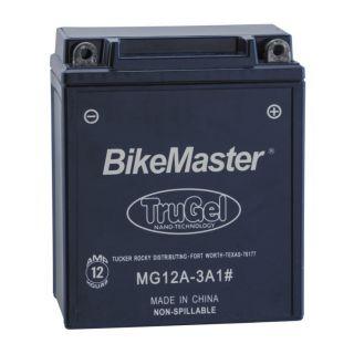 BikeMaster TruGel Batteries MG12A-3A1 Battery, 134mm L x 80mm W x 161mm H