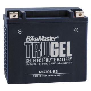 BikeMaster TruGel Batteries for ATV MG20L-BS Battery, 175mm L x 87mm W x 155mm H