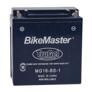 BikeMaster TruGel Batteries for ATV MG16-BS-1 Battery, 151mm L x 87mm W x 161mm H