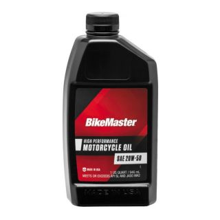 BikeMaster Performance Oil Conventional, 20W50, 1 qt., for Case Order 12