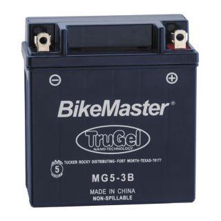 BikeMaster TruGel Batteries for Street MG5-3B Battery, 120mm L x 61mm W x 132mm H