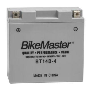 BikeMaster Performance+ Maintenance Free Batteries BT14B-4 Battery