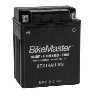 BikeMaster High-Performance+ Maintenance Free Batteries BTX14AH-BS Battery