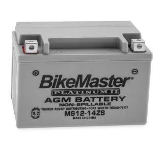 BikeMaster Platinum Batteries MS12-14ZS Battery, 12V Battery, 151mm L x 87mm W x 110mm H
