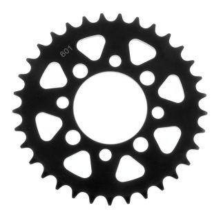 BikeMaster Rear Steel Sprockets Rear 420, 33T, Black