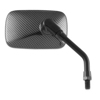"BikeMaster Universal Mini-Carbon Fiber Mirror Grey, 4-7/16"""