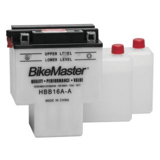 BikeMaster Performance Conventional Batteries for Street HBB16A-A Battery