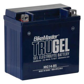 BikeMaster TruGel Batteries for ATV MG14-BS Battery, 151mm L x 87mm W x 145mm H