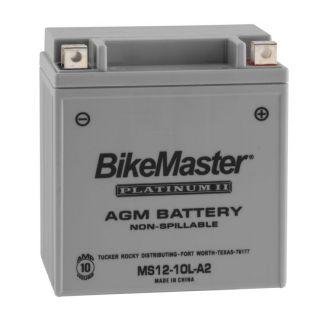 BikeMaster Platinum Batteries MS12-10LA2 Battery, 12V Battery, 135mm L x 90mm W x 146mm H
