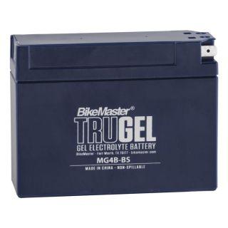 BikeMaster TruGel Batteries MG4B-BS Battery, 113mm L x 39mm W x 86mm H