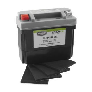 BikeMaster Lithium-Ion Batteries for Street DLFP14B-BS Battery, 148mm L x 65mm W x 92mm H