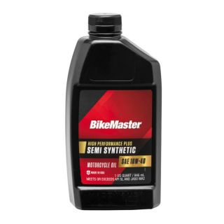 BikeMaster Semi-Synthetic Oil Semi-Synthetic, 10W40, 1 qt., for Case Order 12, New Packaging