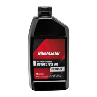 BikeMaster Performance Oil Conventional, 10W40, 1 qt., for Case Order 12